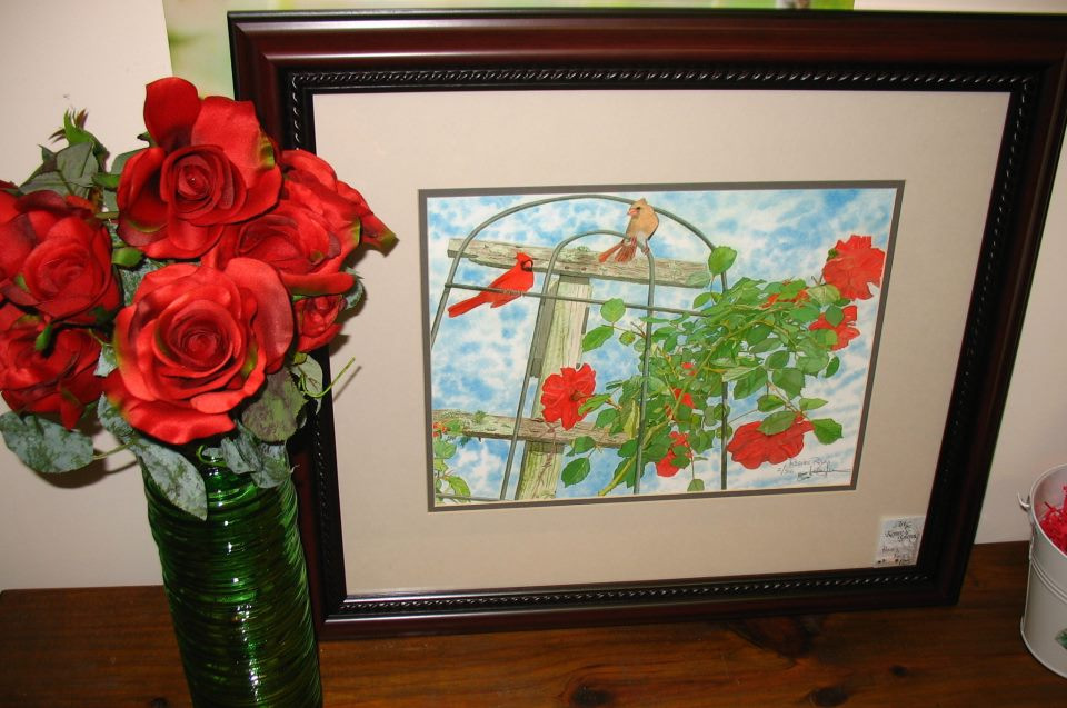 Rosie's Roses Painting by Kenny Glenn